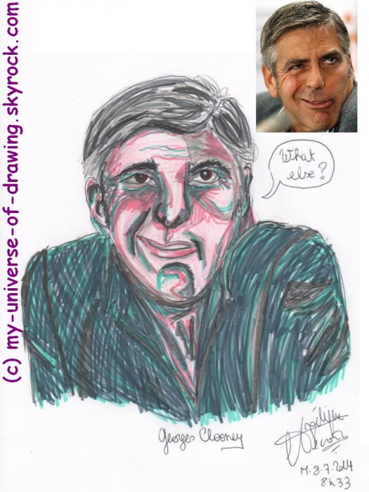 George Clooney by AngelRainbow